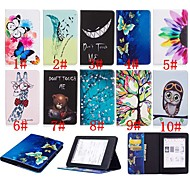 お買い得  タブレット用アクセサリー-ケース 用途 Amazon Kindle PaperWhite 4 耐衝撃 / スタンド付き / パターン フルボディーケース バタフライ / フクロウ / フラワー ハード PUレザー のために Kindle PaperWhite 4