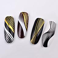 billige -1 pcs decals 3D-grænseflade / Øko Venlig Kreativ Negle kunst Manicure Pedicure Daglig / Maskerade / Festival Stilfuld / Fransk