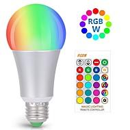 お買い得  LED ボール型電球-kwb 10w rgbw dimmable led電球10w rgbw色を変えるライトバルブリモコン装飾ライト気分の電球ホームインテリアステージのパーティーなどに最適