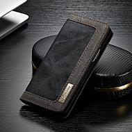 Недорогие Чехлы и кейсы для Galaxy S-CaseMe Кейс для Назначение SSamsung Galaxy S9 Кошелек / Бумажник для карт / со стендом Чехол Однотонный Твердый текстильный для S9