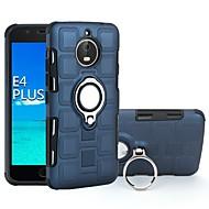 お買い得  携帯電話ケース-ケース 用途 Motorola E4 Plus / E4 耐衝撃 / バンカーリング バックカバー 鎧 ハード PC のために Moto E4 Plus / Moto E4