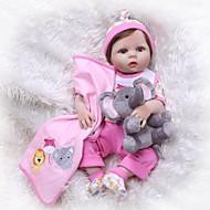 お買い得  -NPKCOLLECTION リボーンドール ガールドール 赤ちゃん(女) 24 インチ シリコーン ビニール - 新生児 生き生きとした 人工インプラントブルーアイズ 子供 女の子 おもちゃ ギフト