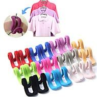5st / lot multifunktionella flockning mini magiska hängande krokar för klädhängare hängare sträng resor kläder arrangör