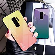 Недорогие Чехлы и кейсы для Galaxy S7 Edge-Кейс для Назначение SSamsung Galaxy Galaxy S10 / Galaxy S10 Plus Зеркальная поверхность Кейс на заднюю панель Градиент цвета Твердый Закаленное стекло для S9 / S9 Plus / S8 Plus