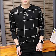 povoljno -Muškarci Osnovni Dugih rukava Sportska majica Jednobojni Okrugli izrez