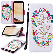 cheap -Case For Samsung Galaxy S8 Wallet / Card Holder / Shockproof Full Body Cases Word / Phrase Hard PU Leather for S8