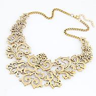 hesapli -Kadın's Çiçek Açıklama Kolye - Vintage, Avrupa, Moda Altın, Gümüş 40 cm Kolyeler Mücevher 1pc Uyumluluk Günlük
