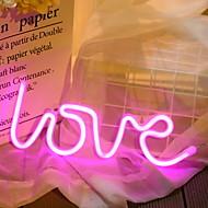 お買い得  -1セット LOVE LEDナイトライト ピンク クリエイティブ バッテリー