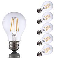お買い得  -GMY® 6本 4 W 350 lm E26 / E27 フィラメントタイプLED電球 A19 4 LEDビーズ COB 装飾用 温白色 120 V
