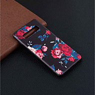 Недорогие Чехлы и кейсы для Galaxy S9-Кейс для Назначение SSamsung Galaxy Galaxy S10 Plus / Galaxy S10 Lite С узором Кейс на заднюю панель Цветы Мягкий ТПУ для S9 / S9 Plus / Galaxy S10