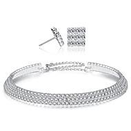 levne -Dámské Tenisový řetězec Šperky Set - Evropský, Módní, Elegantní Zahrnout Náhrdelník Náušnice Stříbrná Pro Párty Obřad