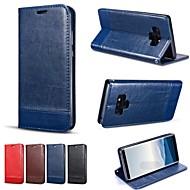 voordelige -hoesje Voor Samsung Galaxy Note 9 / Note 8 Portemonnee / Kaarthouder / Schokbestendig Volledig hoesje Effen Hard PU-nahka voor Note 9 / Note 8 / Note 5