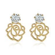 levne -Dámské Klasika Visací náušnice - Pozlacené Umělé diamanty Romantické Šperky Zlatá Pro Párty Narozeniny Dovolená Jdeme ven 1 Pair