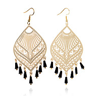 cheap -1 Pair Women's Hollow Out Drop Earrings - Gold Plated Bohemian Jewelry Gold / Black / Silver For Party Street Holiday