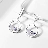 levne -Dámské Neshoda Mix náušnic - Umělé diamanty stylové Geometrik Šperky Stříbrná Pro Svatební Párty Jdeme ven 1 Pair