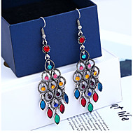 cheap -1 Pair Women's Vintage Style Drop Earrings - Resin Imitation Diamond Ethnic Jewelry Red / Green / Blue For Wedding Street Holiday