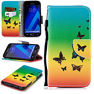 Недорогие Чехлы и кейсы для Galaxy A5(2017)-Кейс для Назначение SSamsung Galaxy A5(2017) Кошелек / Бумажник для карт / Защита от удара Чехол Бабочка Твердый Кожа PU для A5 (2017)
