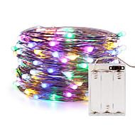 voordelige -ZDM® 5M Flexibele LED-verlichtingsstrips / Verlichtingsslingers 50 LEDs SMD 0603 RGB Waterbestendig / Nieuw Design / Feest 5 V / AA-batterijen aangedreven 1pc
