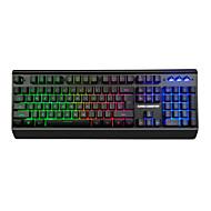 preiswerte Tastaturen-OEM GD300 Kabel Multi farbige Hintergrundbeleuchtung Neuheit 104 pcs 3D Tragbar / Neues Design / Programmierbar USB angetrieben angetrieben