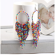 cheap -1 Pair Women's Beads Drop Earrings - Resin Bohemian Jewelry Red / Green / Royal Blue For Wedding Street Club