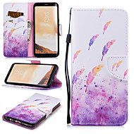 cheap -Case For Samsung Galaxy S8 Wallet / Card Holder / Shockproof Full Body Cases Feathers Hard PU Leather for S8
