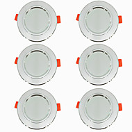 cheap -6pcs 5 W 360 lm 10 LED Beads Easy Install Recessed LED Downlights Warm White Cold White 220-240 V Ceiling Home / Office Living Room / Dining Room