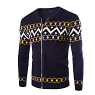 cheap -Men's Daily Solid Colored Long Sleeve Regular Cardigan Blue / Black / Navy Blue L / XL / XXL