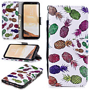 cheap -Case For Samsung Galaxy S8 Plus Wallet / Card Holder / Shockproof Full Body Cases Fruit Hard PU Leather for S8 Plus