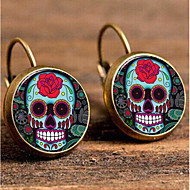 cheap -1 Pair Women's Fancy Stud Earrings - Silver Plated Gold Plated Skull Gothic Jewelry Rainbow For Festival