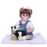 お買い得  -NPKCOLLECTION リボーンドール ガールドール 赤ちゃん(女) 18 インチ プレゼント 手作り 人工インプラントブラウンアイズ 子供 女の子 おもちゃ ギフト