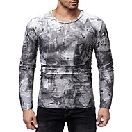 cheap -Men's Basic / Exaggerated T-shirt - Color Block Print