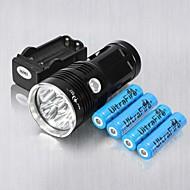 お買い得  フラッシュライト/ランタン/ライト-3 LED懐中電灯 LED 6 エミッタ 6000 lm 耐衝撃性, 充電式, ストライクベゼル キャンプ / ハイキング / ケイビング, 日常使用, サイクリング