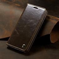 CaseMe Etui Til Samsung Galaxy Galaxy S10 Plus Pung / Kortholder / Med stativ Fuldt etui Ensfarvet Hårdt PU Læder for Galaxy S10 Plus