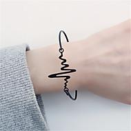 billige -Dame Armbånd Puls Simple Mode Armbånd Smykker Guld / Sort / Sølv Til Daglig Arbejde