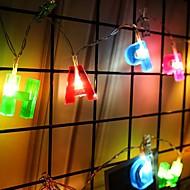 tanie -2 m Łańcuchy świetlne 14 Diody LED Ciepła biel Dekoracyjna Zasilanie bateriami AA 1 zestaw