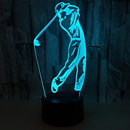 Χαμηλού Κόστους -1pc LED νύχτα φως Button Powered Battery Δημιουργικό 5 V