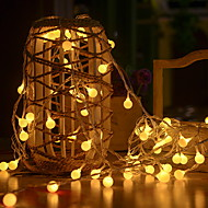 Χαμηλού Κόστους -3M Φώτα σε Κορδόνι 20 LEDs Θερμό Λευκό Διακοσμητικό 5 V 1set