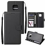 ราคาถูก -Case สำหรับ Huawei Huawei Mate 20 Lite / Huawei Mate 20 Pro Wallet / Card Holder / Flip ตัวกระเป๋าเต็ม สีพื้น Hard หนัง PU สำหรับ Mate 10 / Mate 10 pro / Mate 10 lite