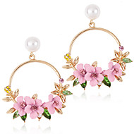 cheap -Women's Drop Earrings - Flower Romantic Jewelry Pink / Navy For Wedding Engagement 1 Pair