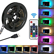 ieftine -KWB 2m Bare De Becuri LED Rigide 120 LED-uri SMD5050 Controler de la distanță cu 17 taste RGB USB / De Legat / culoare Gradient 5 V 1set