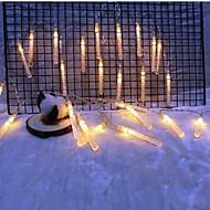 tanie -2 m Łańcuchy świetlne 10 Diody LED Ciepła biel Dekoracyjna Zasilanie bateriami AA 1 zestaw