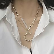 preiswerte -Damen Klassisch Anhängerketten - Künstliche Perle Gold 56 cm Modische Halsketten Schmuck 1pc Für Strasse, Klub