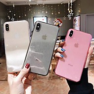Capinha Para Apple iPhone XR / iPhone XS Max Transparente / Glitter Brilhante Capa traseira Sólido Macia TPU para iPhone XS / iPhone XR / iPhone XS Max