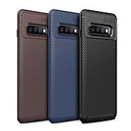Θήκη Za Samsung Galaxy Galaxy S10 / Galaxy S10 Plus Protiv prašine Stražnja maska Jednobojni / Linije / valovi Mekano TPU za S9 / S9 Plus / Galaxy S10
