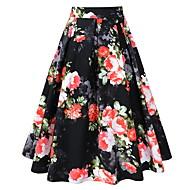 זול -נשים midi קו חצאיות - פרחוני