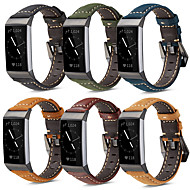 Watch Band for Fitbit Charge 3 Fitbit Modern Buckle Genuine Leather Wrist Strap