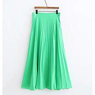 זול -אחיד - חצאיות גזרת A בסיסי בגדי ריקוד נשים