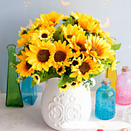 cheap -Artificial Flowers 5 Branch Classic Stage Props Pastoral Style Sunflowers Eternal Flower Tabletop Flower