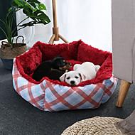 economico -Prodotti per cani Prodotti per gatti Prodotti per roditori Lettini Animali domestici Cuscino & Cuscini Tinta unita Bello Allevia lo stress Ripiegabile Lavabile Grigio Rosso Per animali domestici