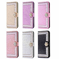 cheap -Case For Apple iPhone XR / iPhone XS Max Wallet / Card Holder / Rhinestone Full Body Cases Glitter Shine / Rhinestone / Flower Hard PU Leather for iPhone XS / iPhone XR / iPhone XS Max